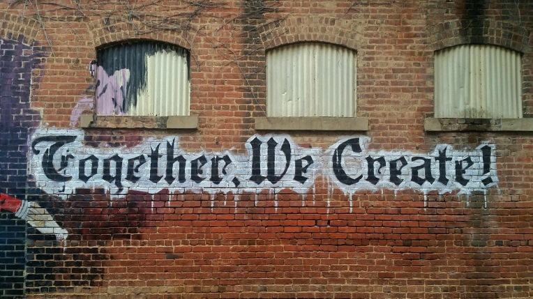 Together We Create wall graffiti