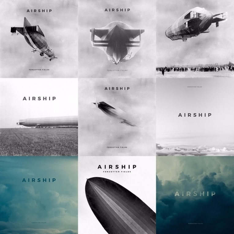 Rough cover art mock-ups for the upcoming Airship album