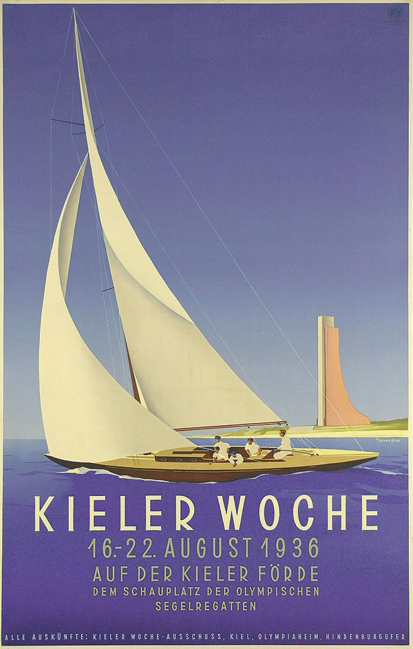 Poster for a sailing event near Kiel by Ottomar Carl Joseph Anton (1895-1976)