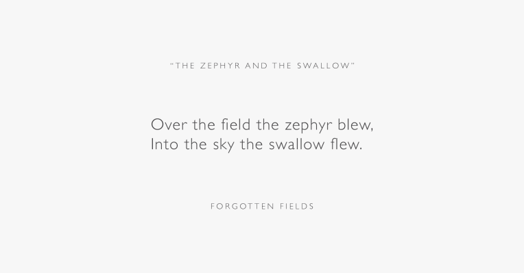 The Zephyr and the Swallow EP Poem