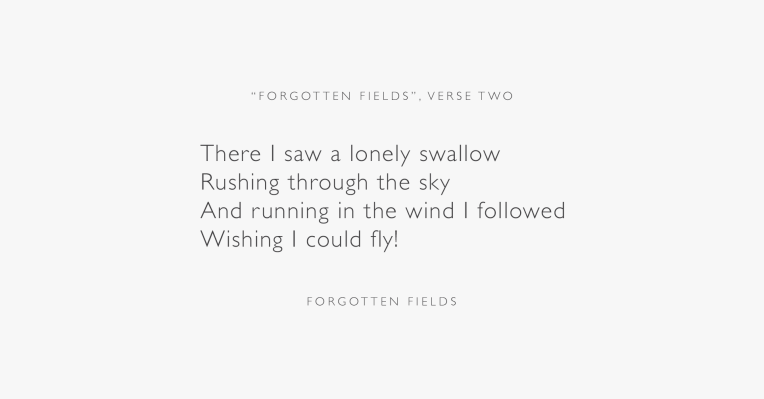Forgotten Fields Poem, Verse Two