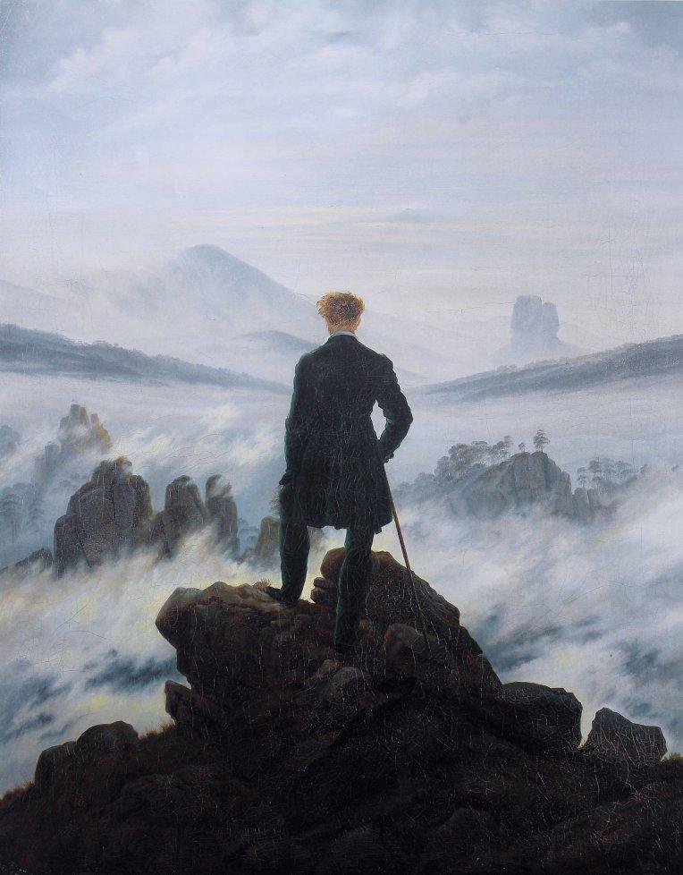 Der Wanderer über dem Nebelmeer (Wanderer Above the Sea of Fog) (1818) by Caspar David Friedrich