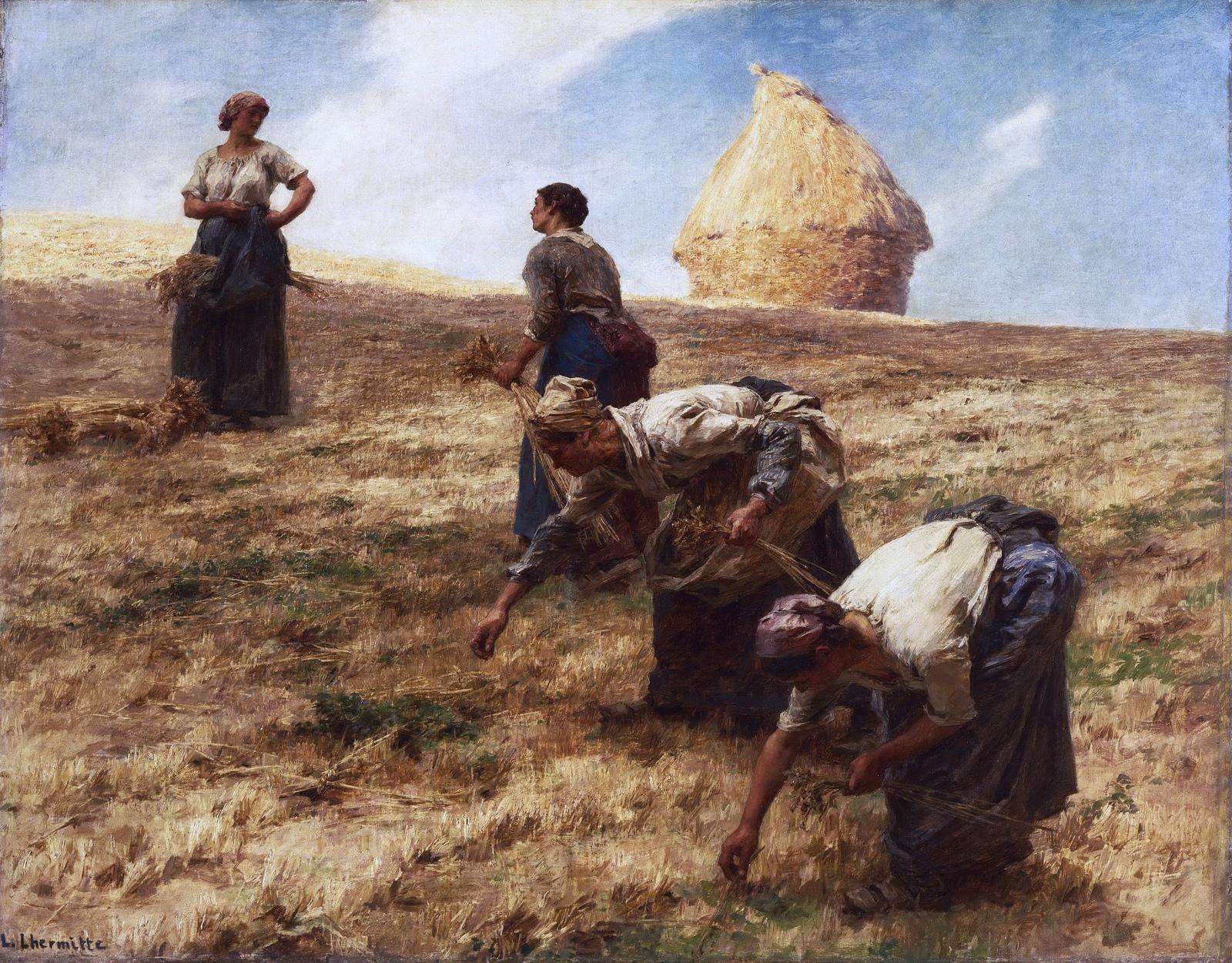 Des Glaneuses (1887), Léon Lhermitte. Public domain.