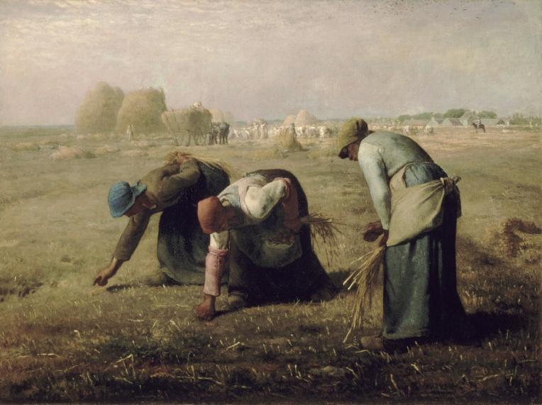 Des Glaneuses (1857) by Jean-François Millet. Public domain.