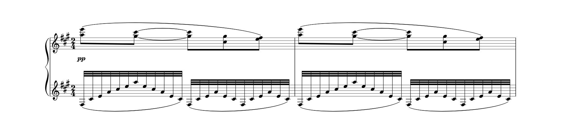 """""""Une barque sur l'océan"""" (1905), Maurice Ravel, Notation."""